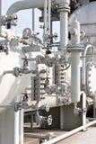 Industrie van olieraffinage en gas Stock Afbeeldingen