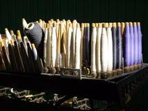 Industrie: zonovergoten katoenen spoelen Royalty-vrije Stock Afbeelding