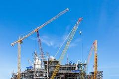 Industrieanlagen sind z.Z. im Bau Lizenzfreies Stockbild