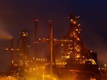 Industrieansicht spät nachts lizenzfreie stockfotos