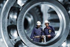 Industriearbeiten und Technikteile Stockbilder