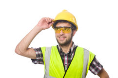 Industriearbeiter lokalisiert Lizenzfreie Stockfotos
