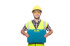 Industriearbeiter lokalisiert Lizenzfreies Stockfoto