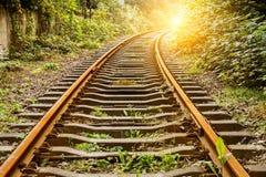 Industriebahnbahn in der Tageszeit stockbild