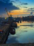 Industriebanken des Dnieper Lizenzfreies Stockfoto