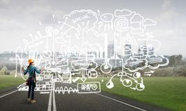 Industriebau und Wartung Lizenzfreie Stockbilder