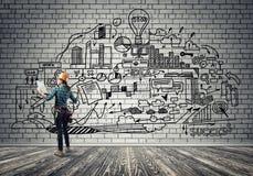 Industriebau und Wartung Stockbilder