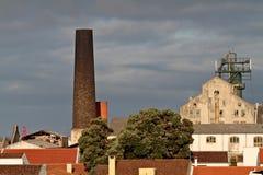Industriebauten in den Azoren Stockbilder