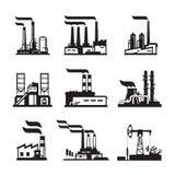 Industriebauten, Kernkraftwerke und Fabriken Lizenzfreie Stockfotos