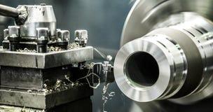Industriedrehbank-Maschinenarbeit lizenzfreies stockbild