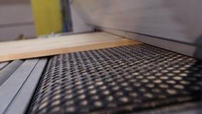 Industrieel binnenland, het werkproces bij een houtbewerkingsfabriek, meubilairproductie stock videobeelden