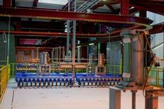 Industrieel binnenland van een generische elektrische centrale Royalty-vrije Stock Fotografie