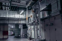 Industrieel, binnenlands, atmosferisch milieu, ventilatie, airconditioner stock afbeeldingen