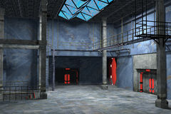 Industrieel binnenlands ontwerp Stock Foto