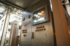 Industrieel controlebord stock afbeelding