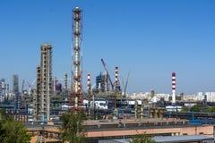 Industrieel district, gebied, fabriek, productie, en energie moskou Kapotnya stock foto