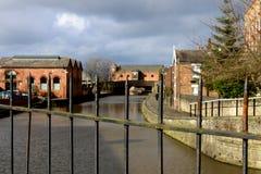 Industrieel erfgoed en de kanalen royalty-vrije stock afbeelding