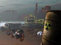 Industrieel gevaarlijk afval Stock Afbeeldingen