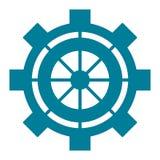 industrieel het toestelsymbool van het wielradertje Royalty-vrije Stock Afbeeldingen