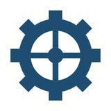 industrieel het toestelsymbool van het wielradertje Royalty-vrije Stock Foto's