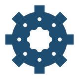 industrieel het toestelsymbool van het wielradertje Royalty-vrije Stock Foto