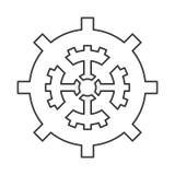 industrieel het toestelsymbool van het wielradertje Royalty-vrije Stock Afbeelding