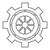 industrieel het toestelsymbool van het wielradertje Stock Fotografie