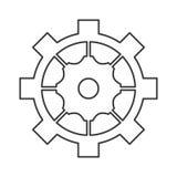 industrieel het toestelsymbool van het wielradertje Royalty-vrije Stock Fotografie