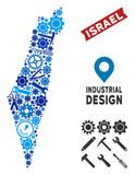 Industrieel Israel Map Mosaic Royalty-vrije Illustratie