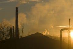 Industrieel landschap. stock foto