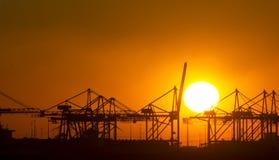 Industrieel landschap stock foto's