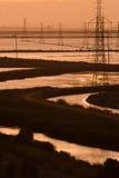 Industrieel landschap royalty-vrije stock afbeeldingen