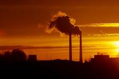 Industrieel landschap Stock Afbeeldingen
