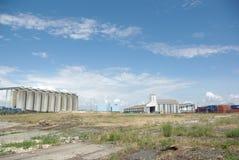 Industrieel landschap stock afbeelding