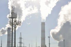Industrieel landschap van de grote stad Stock Foto