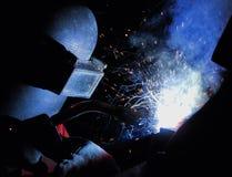 Industrieel lassen Royalty-vrije Stock Afbeeldingen