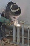 Industrieel Lassen Royalty-vrije Stock Afbeelding