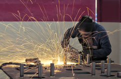 Industrieel lassen Stock Fotografie