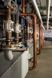 Industrieel loodgieterswerk binnen royalty-vrije stock afbeelding