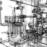 Industrieel materiaal vector illustratie