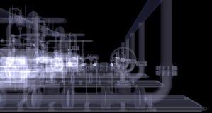 Industrieel materiaal. De röntgenstraal geeft terug vector illustratie