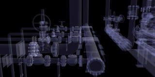 Industrieel materiaal. De röntgenstraal geeft terug royalty-vrije illustratie
