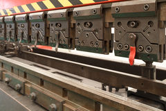 Industrieel metaal die Machine vouwen Stock Foto's