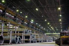 Industrieel metallurgisch pakhuis Stock Fotografie