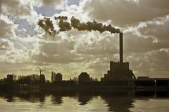Industrieel milieu dichtbij Amsterdam Netherla Royalty-vrije Stock Foto's