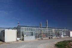 Industrieel modern landbouwbedrijf Stock Foto