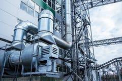 industrieel, moderne ventilatie, openlucht, ventilator, buis, metaal royalty-vrije stock afbeelding