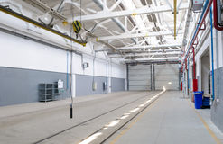 Industrieel pakhuisbinnenland Royalty-vrije Stock Afbeelding