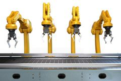 Industrieel robotachtig wapen royalty-vrije stock afbeeldingen