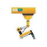 Industrieel robotontwerp stock illustratie